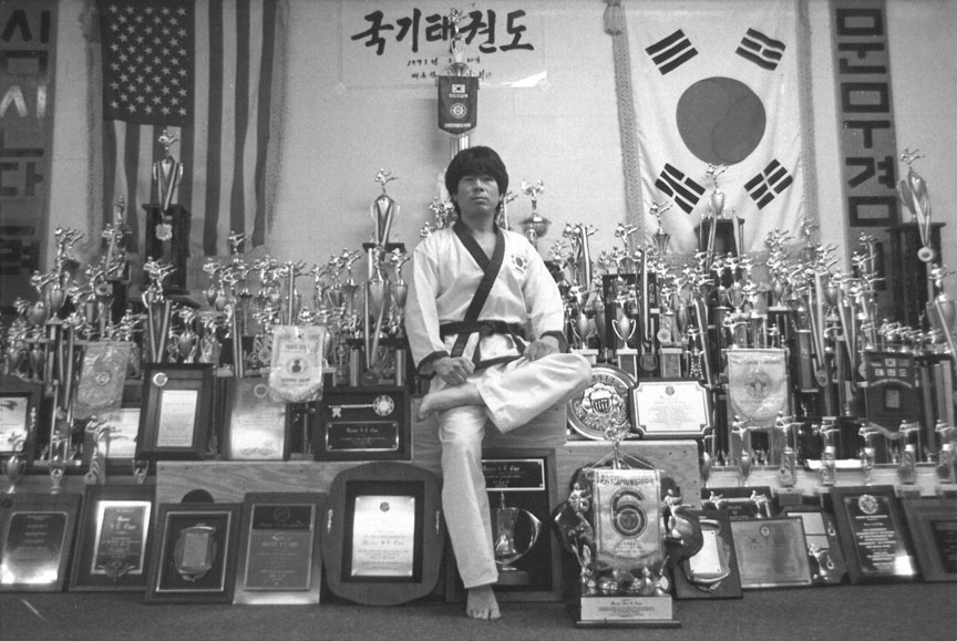 Grand Master Sung Cho with trophies